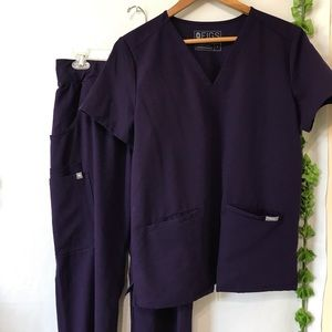 Figs Purple Scrubs Set